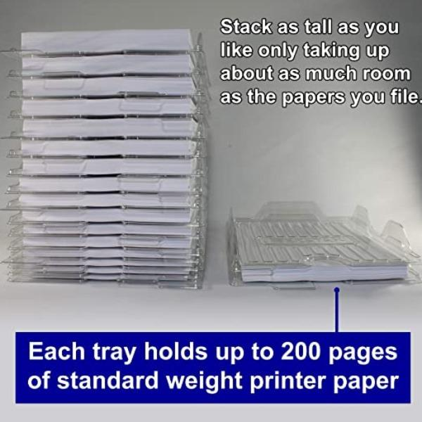 Stackable Paper Trays & File Organizers
