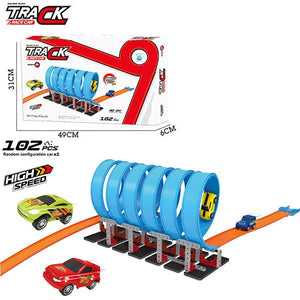 Hot Wheels Corkscrew Crash Track Set