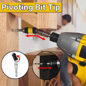 Pivoting Bit Tip- Quick and easy way to drill screw!