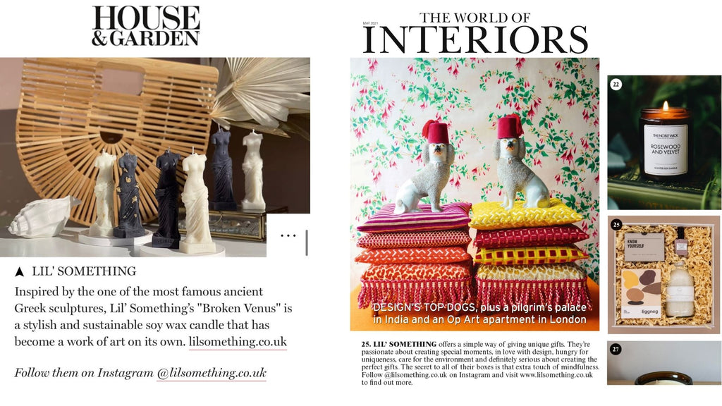 HOUSE AND GARDEN and The world of interiors GIFT IDEAS AND INSPIRATIONS