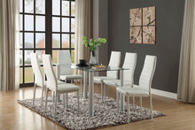 Load image into Gallery viewer, DINING TABLE GLASS TOP + 4 CHAIRS (FLORIAN COLLECTION)