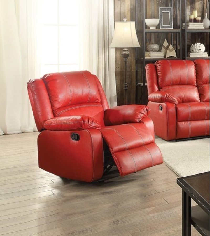 Zuriel Rocker Recliner (Motion), Red PU
