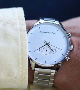 Cade All Silver Mens 45mm  Watch