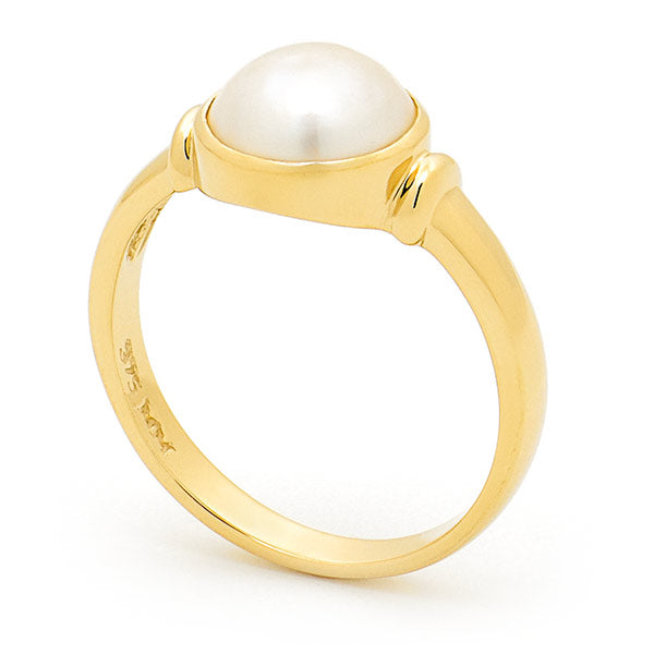 Mabe Pearl Yellow Gold Ring