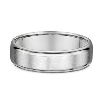 Brushed White Gold Gents Ring