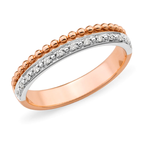 Diamond Twin Band Ring