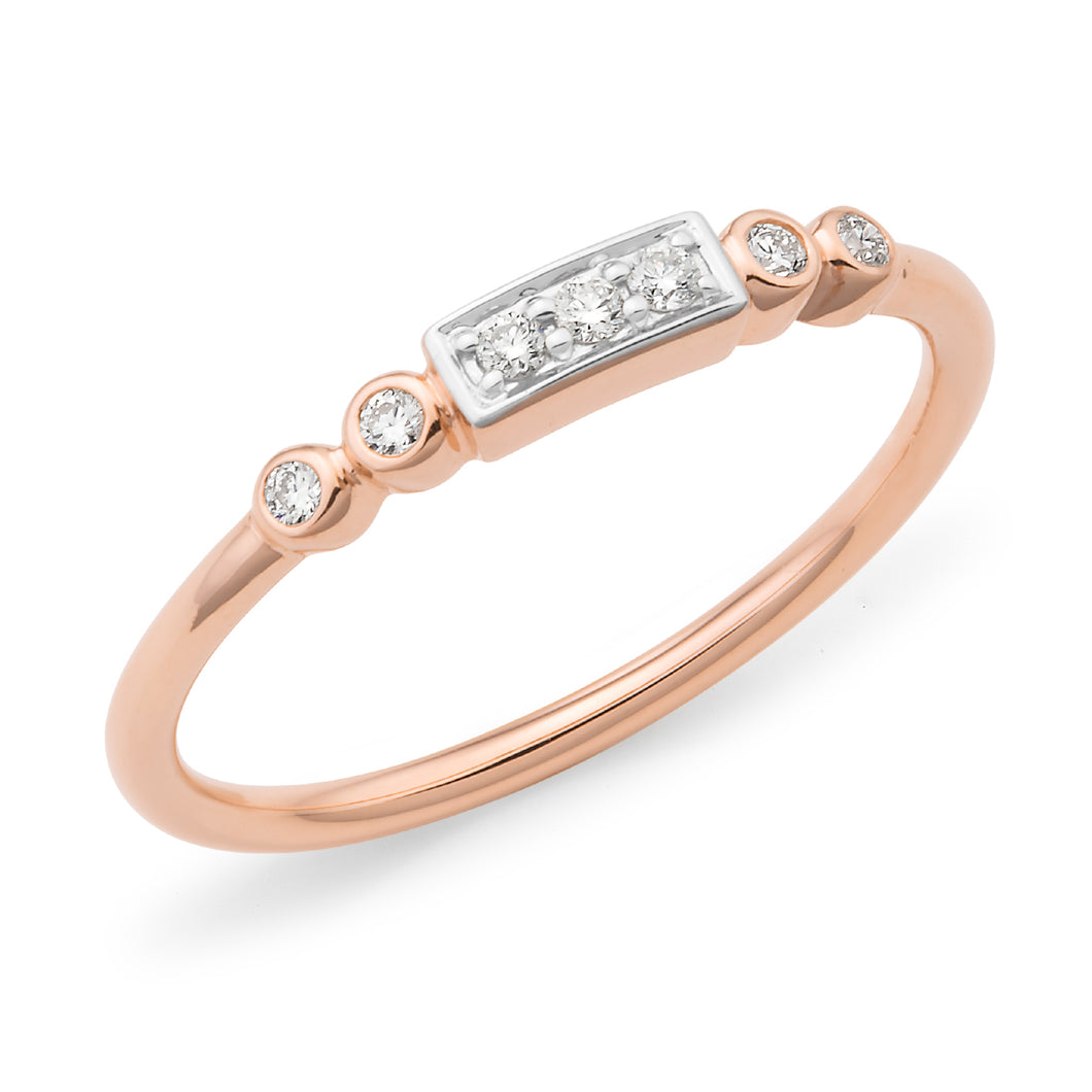 Fine Diamond Rose Gold Ring