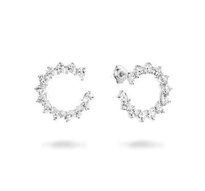 Georgini Vella Rhodium Cubic Zirconia Stud Earrings