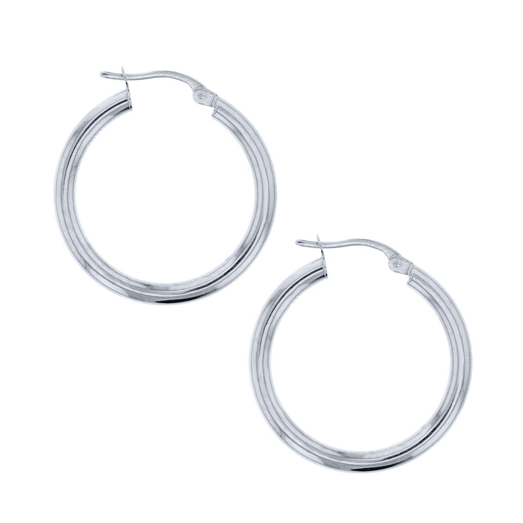 White Gold Plain Hoop