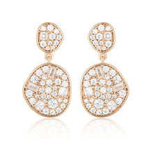 Load image into Gallery viewer, Anna Mosaic Rose Gold Drop Earrings