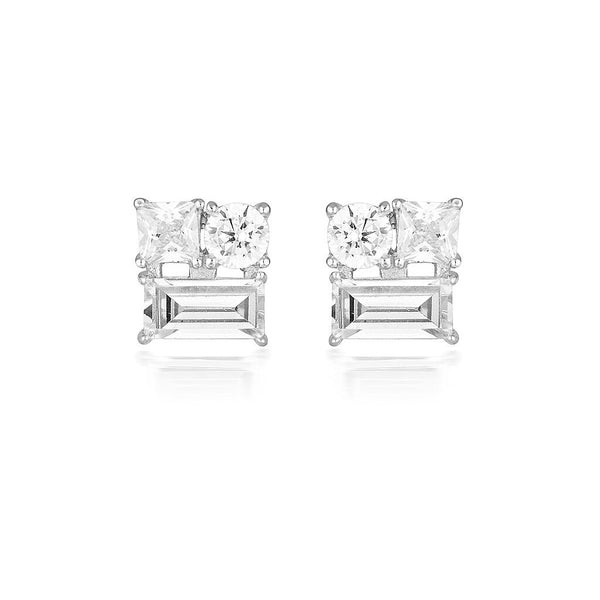 Thea Silver Stud Earrings