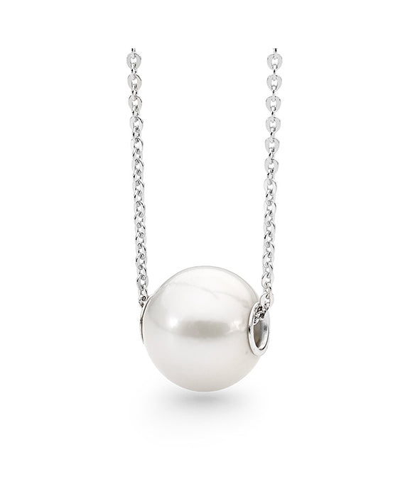Single Round Fresh Water Pearl Slider Necklace