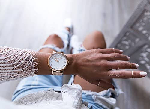 Rose Gold Mesh Luxe 43mm Watch