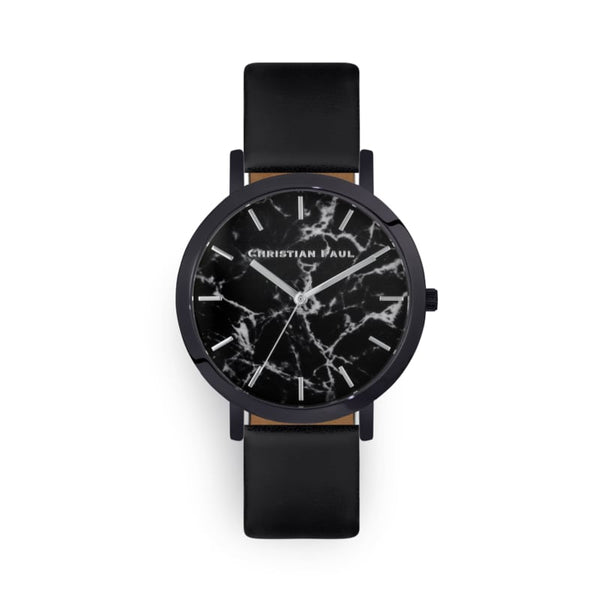 The Strand Marble all Black 35mm Watch