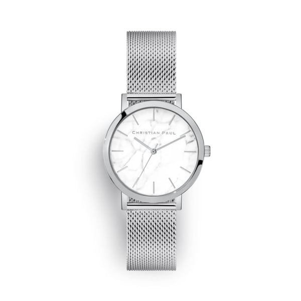 Whitehaven Marble 35 Silver Mesh Watch