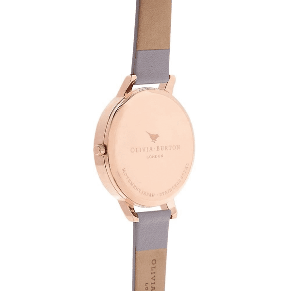 Contemporary Big Dial Purple & Rose Gold Watch