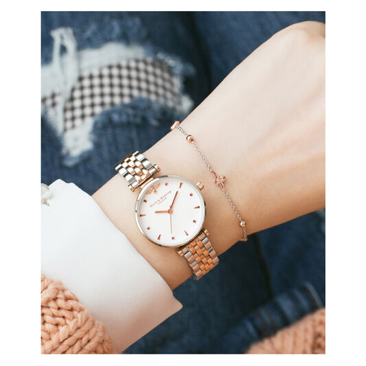 Queen Bee Silver & Rose Gold Watch