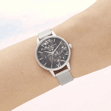 Load image into Gallery viewer, Celestial Silver Mesh Watch