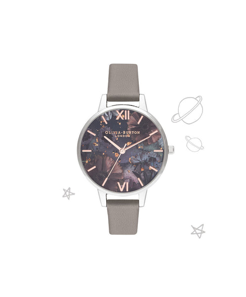 Celestial Grey & Silver Watch