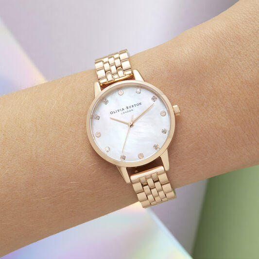 Mother Of Pearl Dial Rose Gold Watch