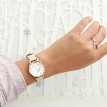 Load image into Gallery viewer, Snow Globe Vegan Blush & Rose Gold Watch