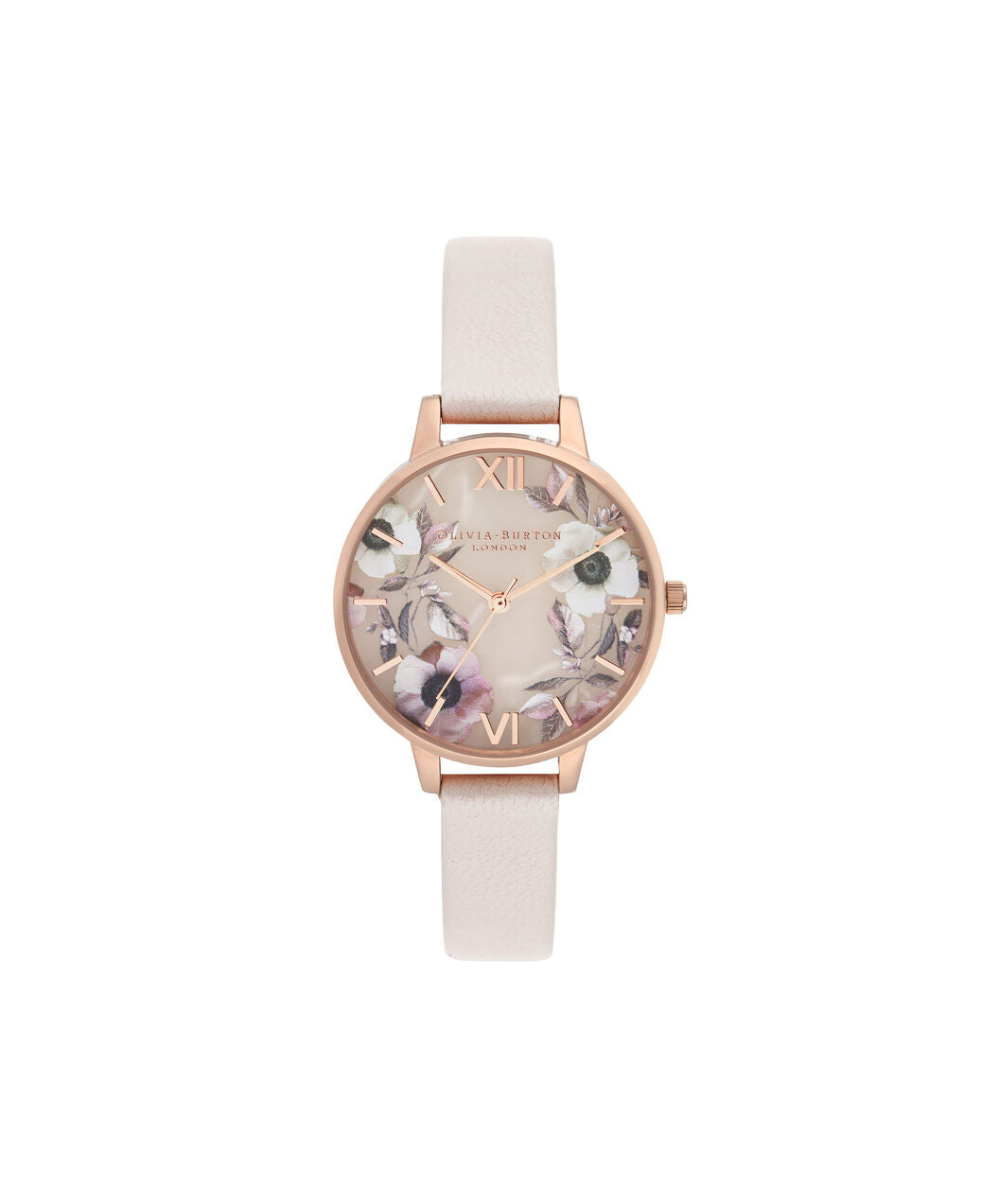 Semi Precious Rose Quarts & Poppy Rose Gold & Nude Watch