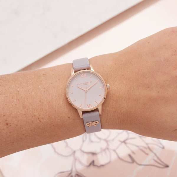 Rose Gold & Purple Bow Watch