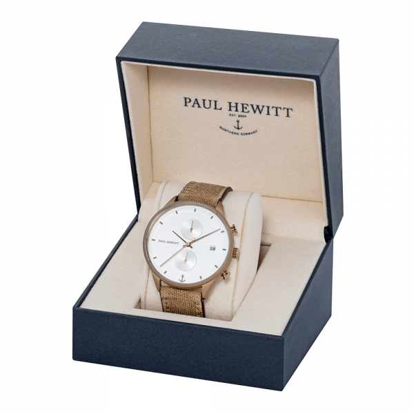 White Sand Bronze Canvas Desert Chrono Watch