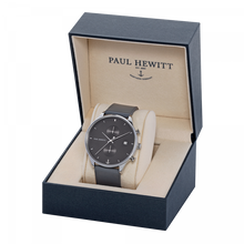 Load image into Gallery viewer, Chrono Midnight Ocean Silver Grey Leather Watch