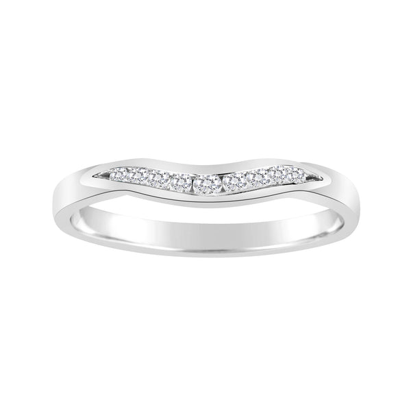 Channel Set Diamond Curved Wedder
