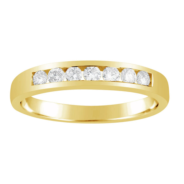 Channel Set Diamond Gold Wedder