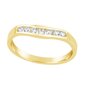 Cubic Zirconia Curved RIng