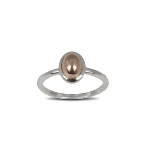 Fine Oval Rose Gold Ring