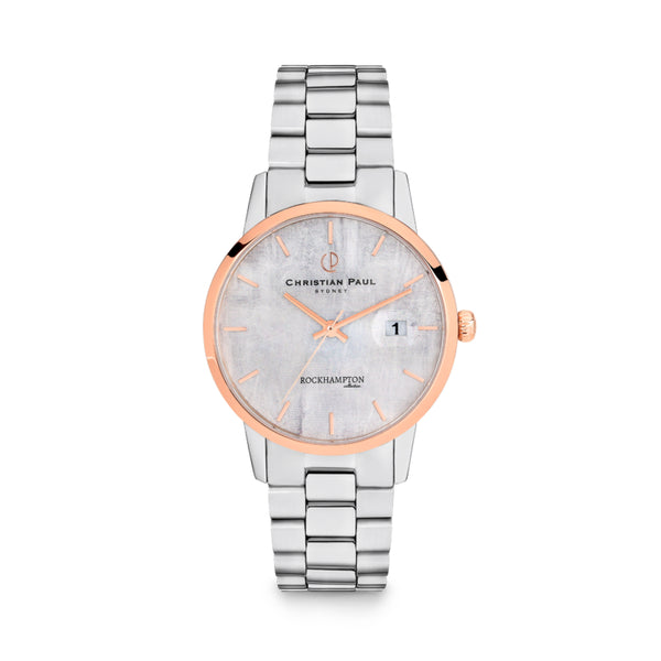 Rockhampton Limestone Silver & Rose 40mm Watch