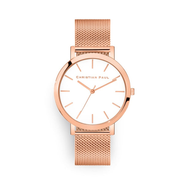 Sunshine 43 Rose Mesh Watch