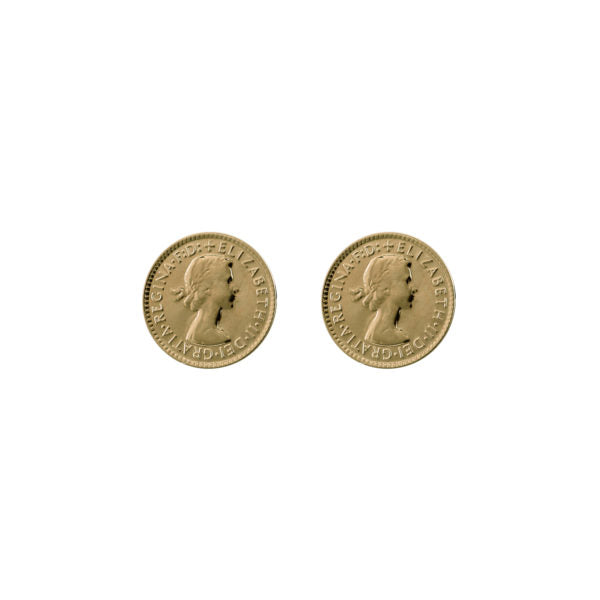 Threepence Studs - Gold