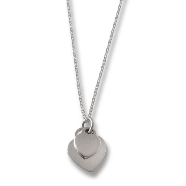 Adjustable Necklace With Double Heart Pendant