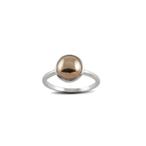 8mm Round Yellow Gold-Filled Ring