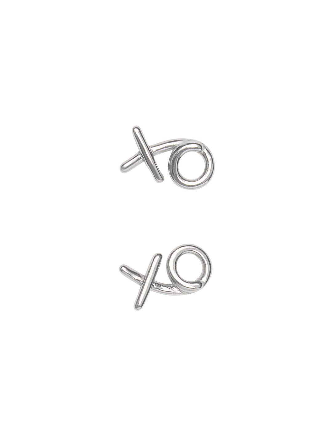 Pastiche Silver With Love Stud Earrings