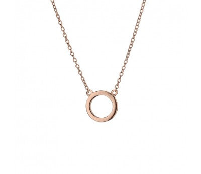 Rose Open Circle Necklace