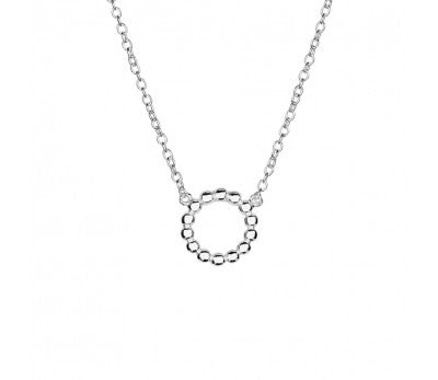 Multi Ball Open Circle Necklace