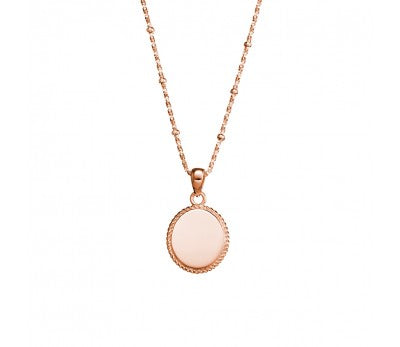 Rose Oval Circle Necklace