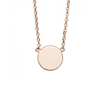 Rose Disc Necklace