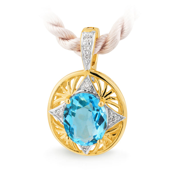 Blue Topaz & Diamond Enhancer
