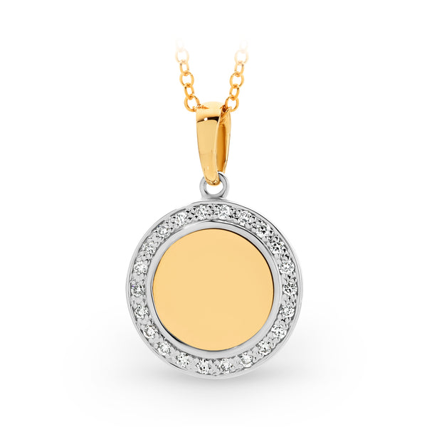 Diamond Hi-shine Circle Pendant