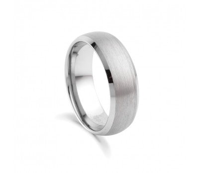 Men's Tungsten Matte Finish Ring