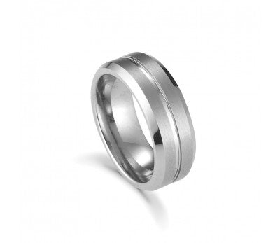 Men's Tungsten Lined Ring