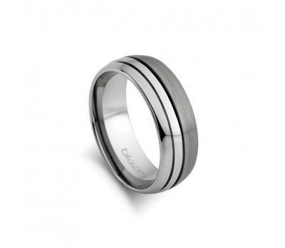 Men's Tungsten Sectioned Ring