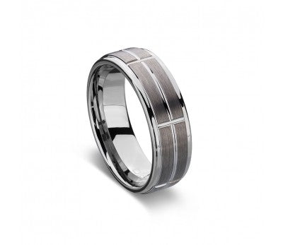 Mens Tungsten Lined Ring