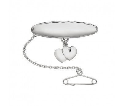 Double Heart Charm Baby's Brooch